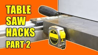 5 Table Saw Tricks and Tips Part 2 - Woodworking Hacks