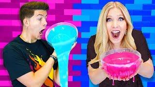 Boy vs Girl DIY Slime Challenge! (PrestonPlayz vs BriannaPlayz)