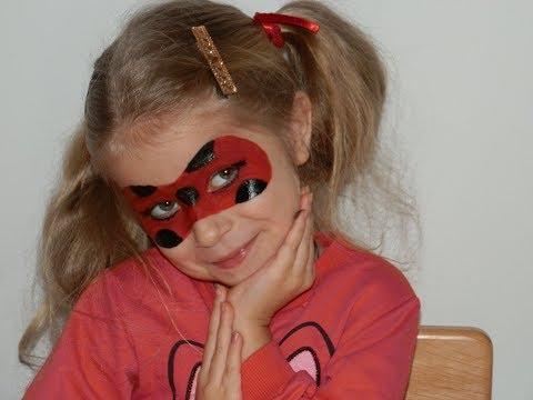 ☆彡Ледибаг Рисуем МАСКУ макияж, аквагрим для детей🐞 Miraculous Ladybug Magic Transform  for children