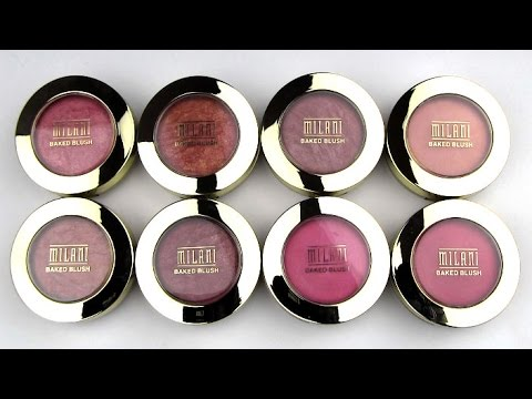 Milani Baked Powder Blushes: Live Swatches & Review