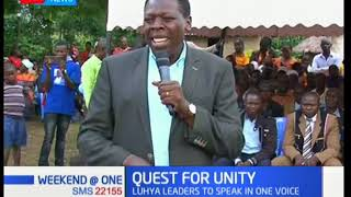CS Eugene Wamalwa leads legislators from Western in a quest for unity among the Luhya Community