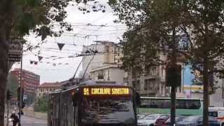 preview picture of video 'Riding Milano's ATM Trolleybus Number 91 from the Lotto Fiera Metro stop'