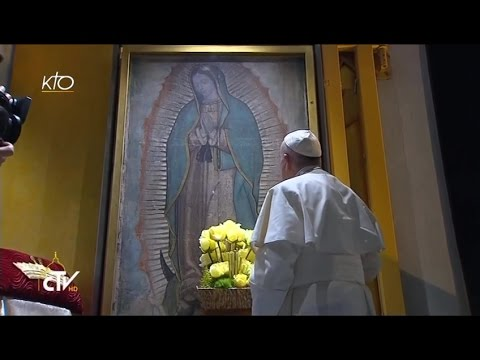 Le Pape François prie Notre-dame de Guadalupe et célèbre la Messe