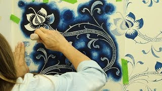Passion Flower Wall Stenciling