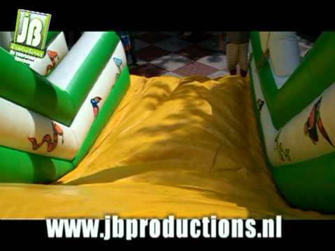 Tropical Kids Slide - Opblaasbare glijbaan  onderdeel van Tropical Kids Party