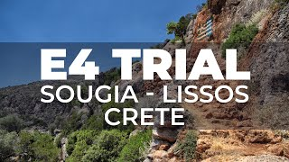 Section of the E4 route between Sougia and Lissos
