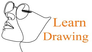 Learn How To Drawing By One Line - Face Drawing