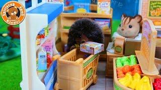 Sylvanian Families - Einkauf im Supermarkt - wer kauft gesünder ein ? Kinder Spielzeug deutsch
