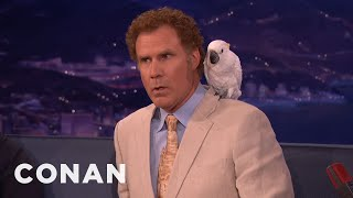 Don't Ask Will Ferrell About Professor Feathers   CONAN on TBS