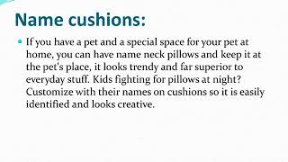 Personalized Neck Pillow- a Perfect Combination of Comfort with Trend!