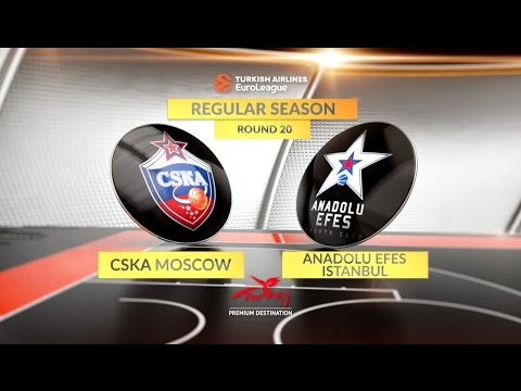 EuroLeague Highlights RS Round 20: CSKA Moscow 80-77 Anadolu Efes Istanbul