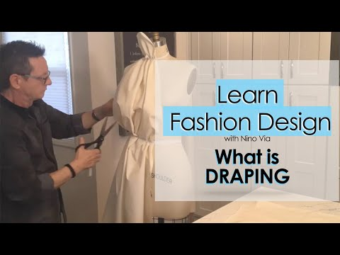 Learn FASHION DESIGN Online. Draping: What Is Draping In Fashion Design.