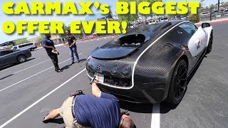 Taking a $2Million Bugatti Veyron Mansory to CarMax for an Appraisal