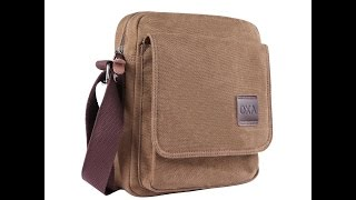 OXA Small Vintage Canvas Messenger Tablet Bag Review