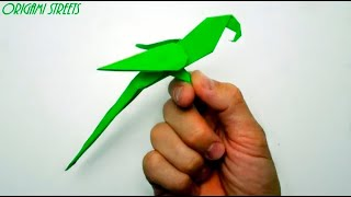 Как сделать попугая из бумаги. Оригами попугай из бумаги