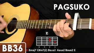 Pagsuko - Jireh Lim Guitar Tutorial (Chords/Sequence/1st Chorus Fingerpicking Lesson)