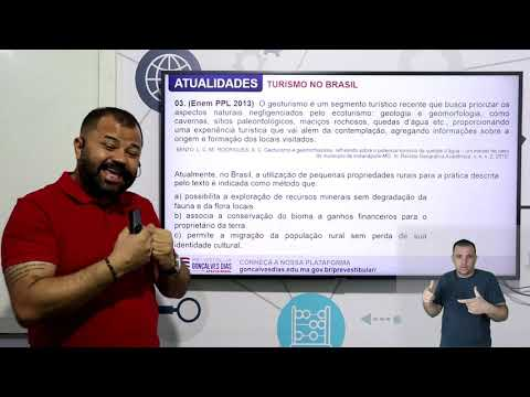 Aula 06 | Turismo no Brasil - Parte 03 de 03 - Exercícios Resolvidos - Atualidades