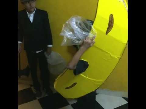 El disfraz más terrorífico del día de muertos, el plátano 😂😂🍌🍌