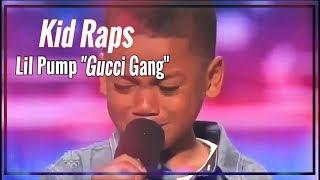 "Kid Raps Lil Pump ""Gucci Gang"" On Americas Got Talent! Hilarious"