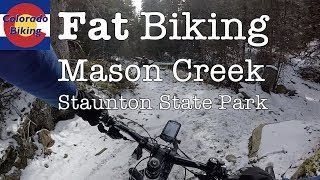 Mason Creek descent from Bear Paw - fat biking