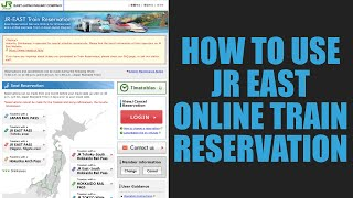How to book a seat at JR East online train reservation