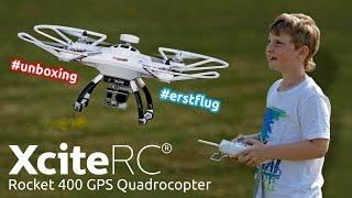 XciteRC Rocket 400 GPS Quadrocopter - Unboxing & Erstflug