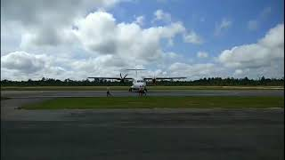 preview picture of video 'Taxi Out & Take Off Wings Air - Garuda Indonesia - Nam Air Sintang - Pontianak'