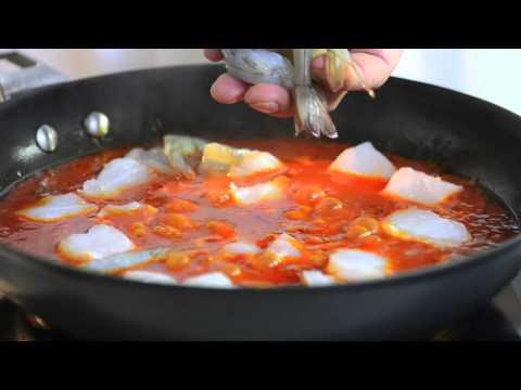 Тушеные морепродукты