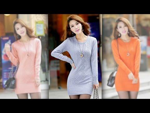 Женский длинный свитер или свитер-платье высокого качества с Aliexpress