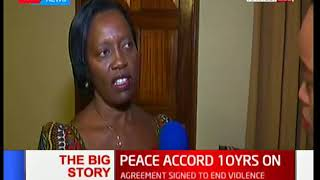 Former Minister Martha Karua talks about the gains made by the Peace Accord: The Big Story