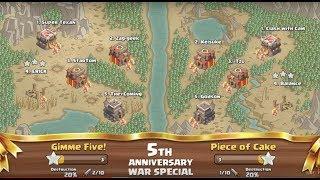 Clash of Clans - 5th Anniversary War Special RECAP!