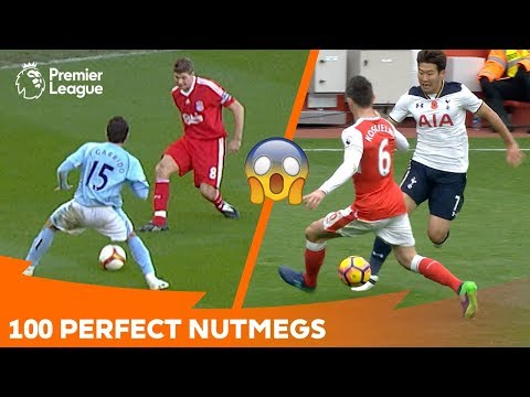 100 Perfect Nutmegs | Premier League Compilation