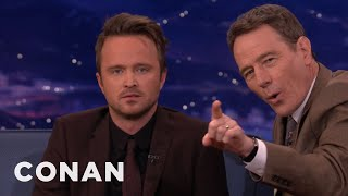 Bryan Cranston & Aaron Paul Show Their Scary Resting Faces   CONAN on TBS