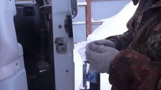 Как поменять ручку двери на газель