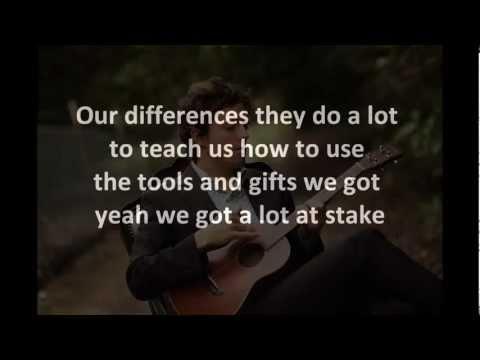 Jason Mraz - I won't give up (instrumental cover with lyrics: original key)