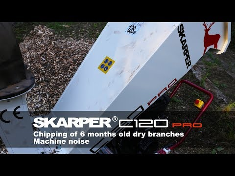 SKARPER® C120 PRO | Machine noise - dry branches