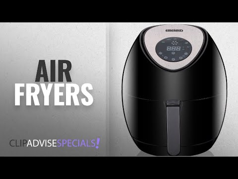 Top 10 Air Fryer Emerald [2018]: Emerald Digital Air Fryer 3.2L Capacity- 1400 Watts (1803)