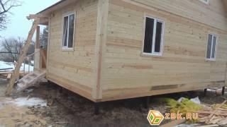 Дом из бруса размером 6 на 8 метров (6х8 м.)
