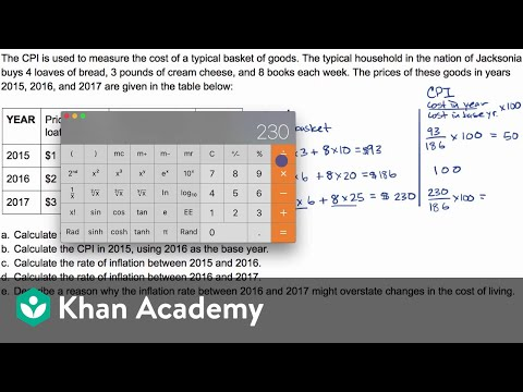 Example Question Calculating Cpi And Inflation Video Khan Academy This conversion of 60 months to years has been calculated by multiplying 60 months by 0.0833 and the result is 5.0038 years. example question calculating cpi and