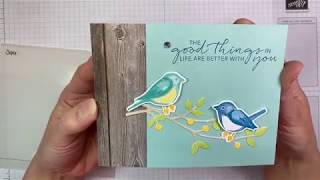 Stampin Up! Birds & Branches Card Tutorial