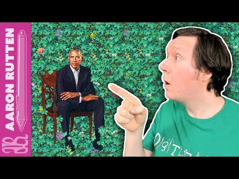 Artist's Critique of President Obama's Official Portrait