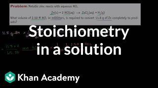 Another Stoichiometry Example in a Solution