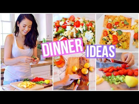 Video 3 EASY & HEALTHY VEGETARIAN DINNER IDEAS!