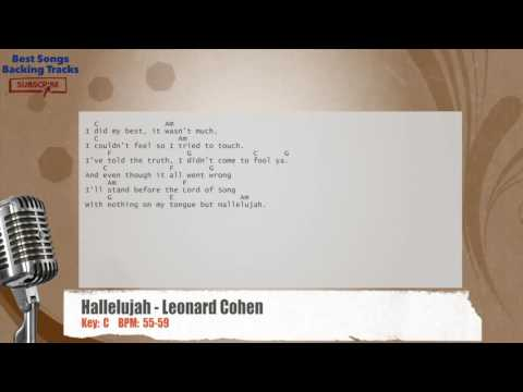 Hallelujah - Leonard Cohen Vocal Backing Track with chords and lyrics