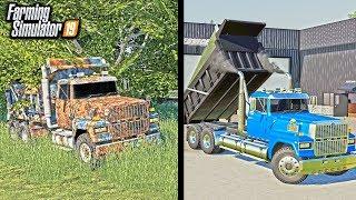 RUSTY DUMP TRUCK RESTORATION! (SITTING FOR 20 YEARS) | FARMING SIMULATOR 2019