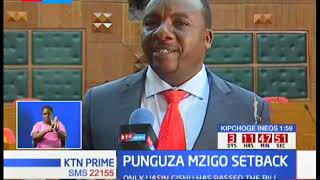 Punguza mzigo  bill faces hard times in search of support as 7 counties rejects the bill