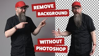 Remove background from image without Photoshop (See description for updated video link)