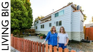 Solo Mother With Teenage Daughter Builds Amazing Tiny House