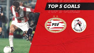 That finish by VAN NISTELROOY ? | TOP 5 GOALS PSV - SPARTA ROTTERDAM