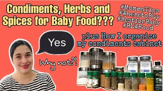 BABY FOOD: CONDIMENTS, HERBS and other Spices for Baby Food? BLW Baby | Momma Life by Gail